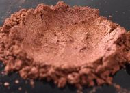 Dark Red Gold Pearl Metal Series Pearl is a Mica Pigment sized at 10-60 UM.