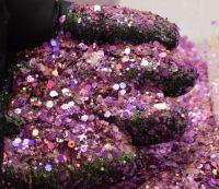 Fuchsia Freeze Chunky Metal Flake Glitter