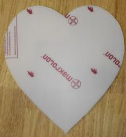 Heart Shape Poly-carbonate Blank