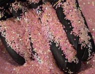 Pink Fluorescent Chunky Metal Flake Glitter 0.040 Hex